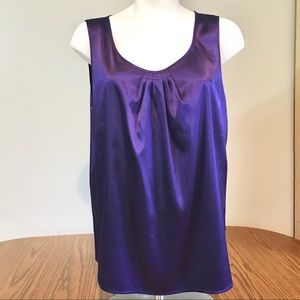Chico's Women's Purple Blouse Sleeveless Size 2